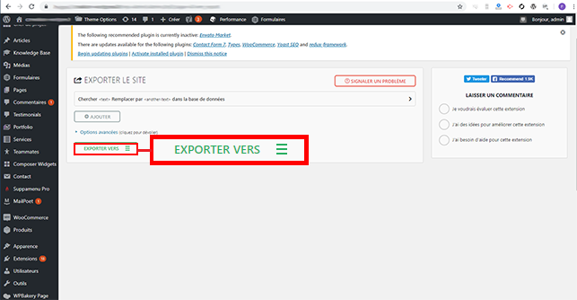 migrer un site WordPress