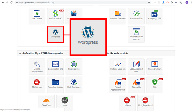 installer wordpress