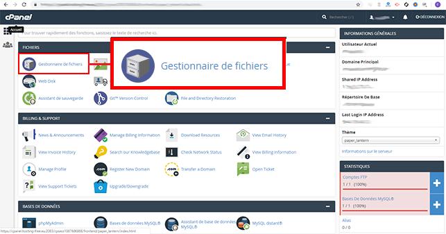 installer WordPress sur cPanel